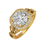 Sage 9kt gold engagement ring - Azarai Jewelry |  Abuja | Lagos | Nigeria
