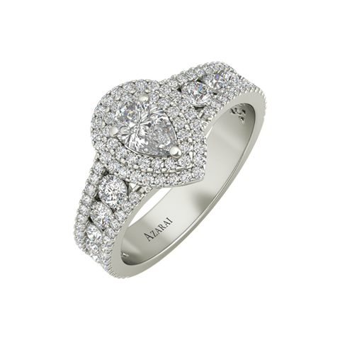 Auris sterling silver engagement ring - Azarai Rings |  Abuja | Lagos | Nigeria