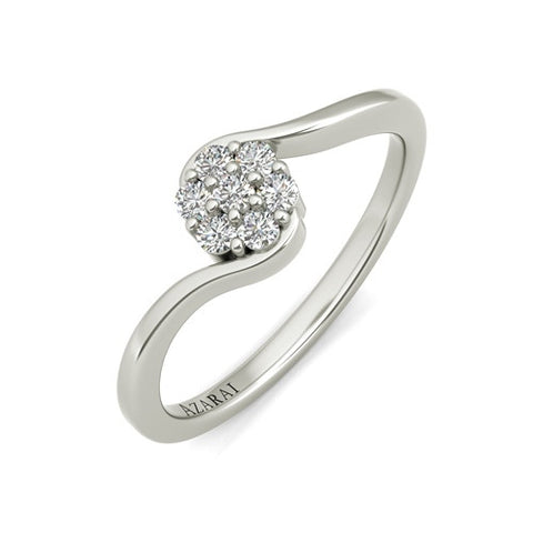 Fleur sterling silver engagement ring
