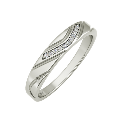 Cascade sterling silver wedding band