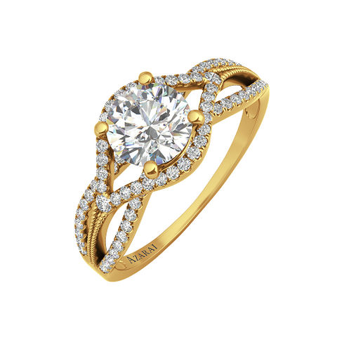 Azalea 9kt gold engagement ring