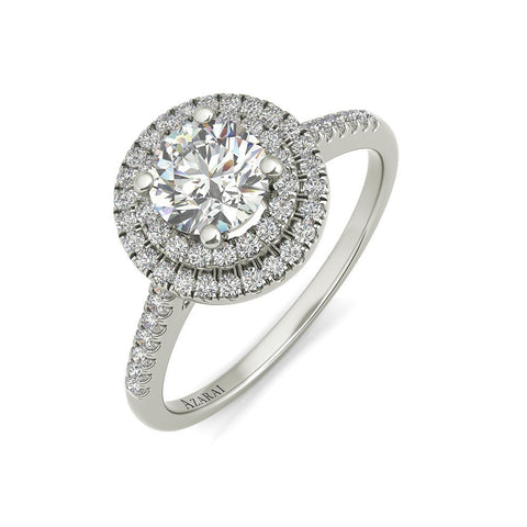 Cicely sterling silver engagement ring
