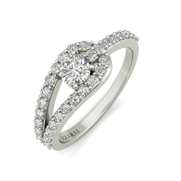 Paloma sterling silver engagement ring