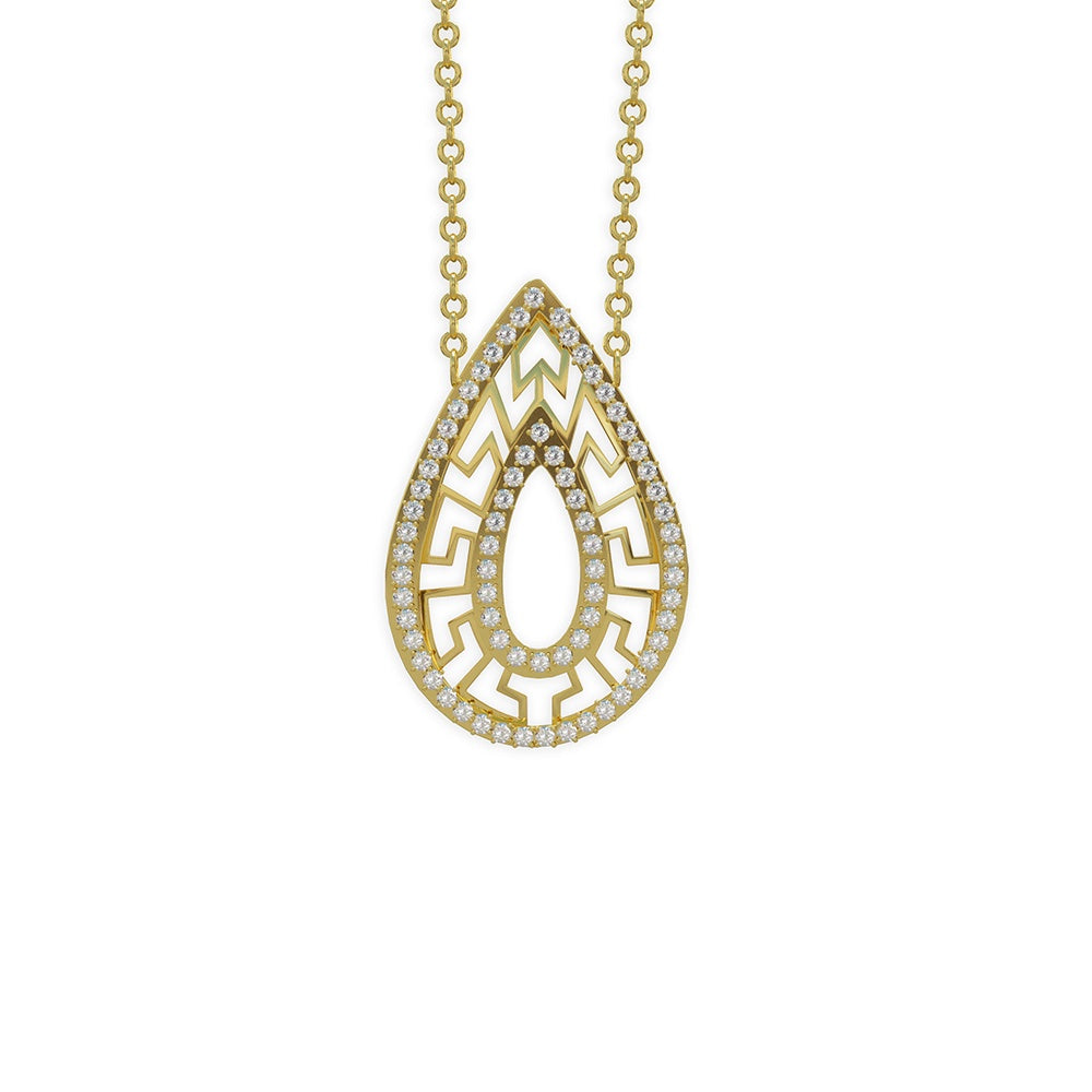 Ventus 9kt gold pendant and chain - Azarai Wedding Rings |  Abuja | Lagos | Nigeria