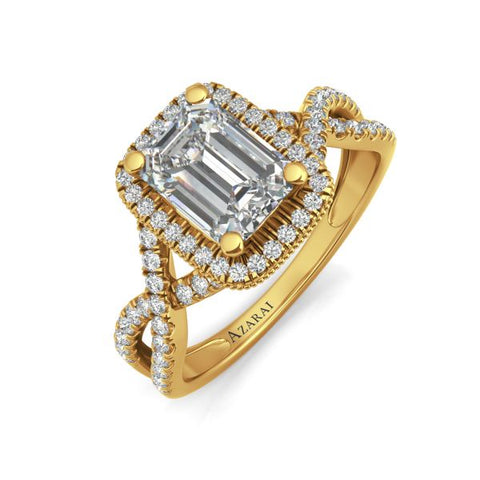 Arabella 14kt gold engagement ring - Azarai Jewelry |  Abuja | Lagos | Nigeria