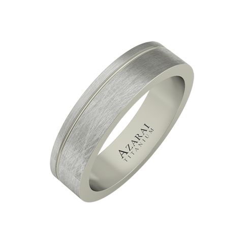 Stratus titanium wedding band