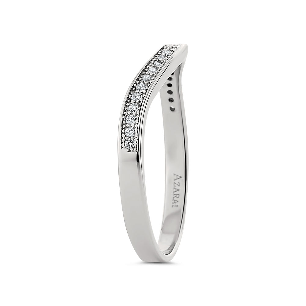 Harlow sterling silver wedding band - Azarai Wedding Rings |  Abuja | Lagos | Nigeria