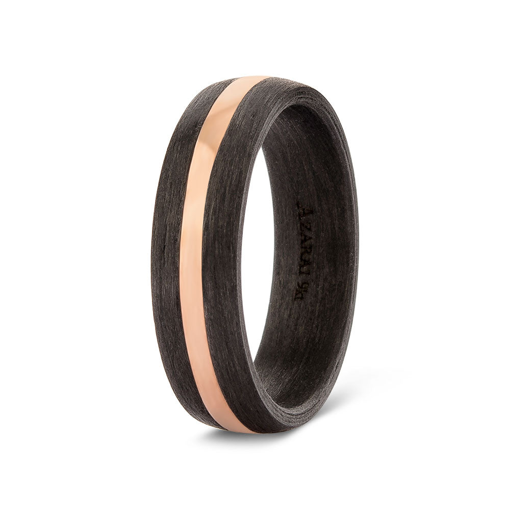 Perseus carbon fibre and solid gold wedding band - Azarai |  Abuja | Lagos | Nigeria