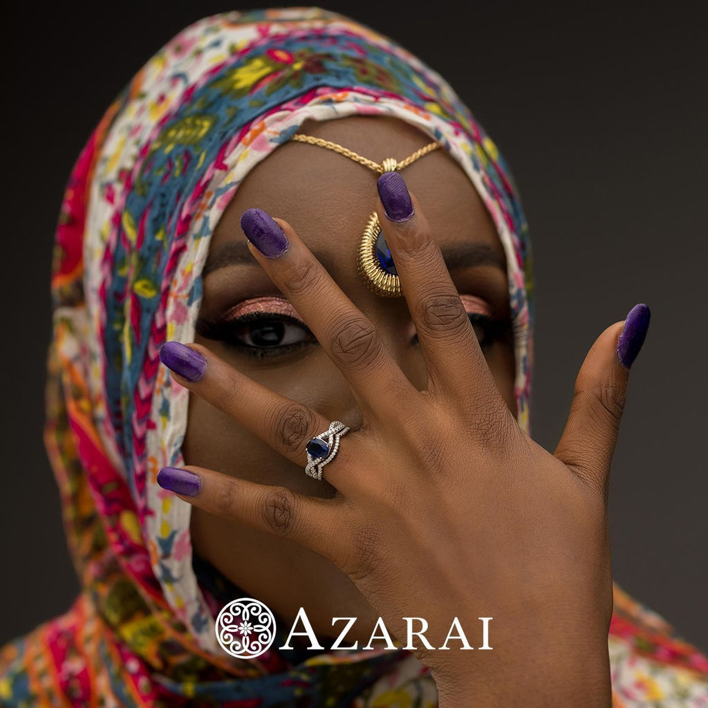 Adelaide sterling silver bridal set - Azarai Wedding Rings |  Abuja | Lagos | Nigeria