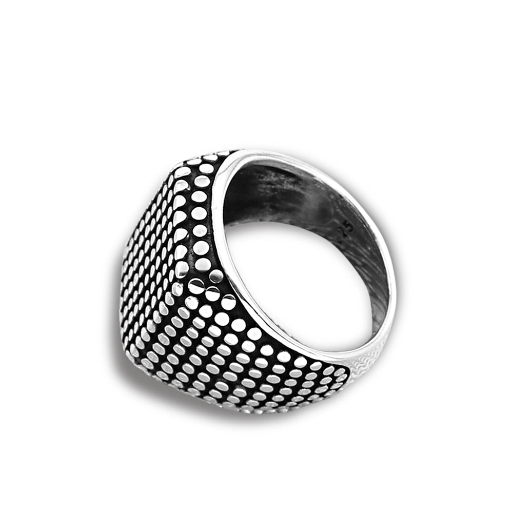 Quantum sterling silver men's signet ring - Azarai Wedding Rings |  Abuja | Lagos | Nigeria