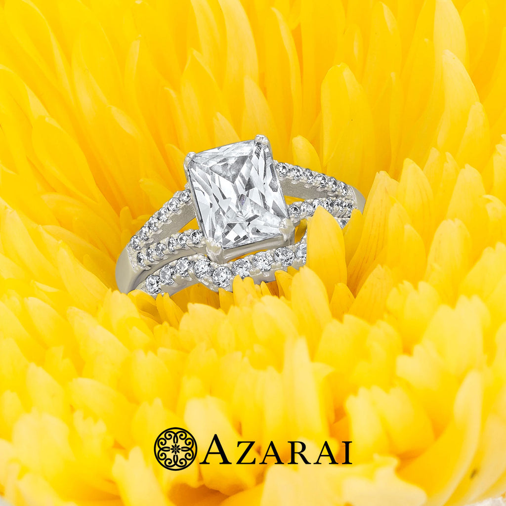 Giulia sterling silver bridal set - Azarai Wedding Rings |  Abuja | Lagos | Nigeria