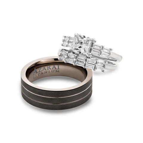 Adaggio sterling silver and titanium trio set bundle - Azarai |  Abuja | Lagos | Nigeria