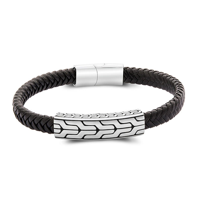 Reju leather bracelet for men - Azarai Wedding Rings |  Abuja | Lagos | Nigeria