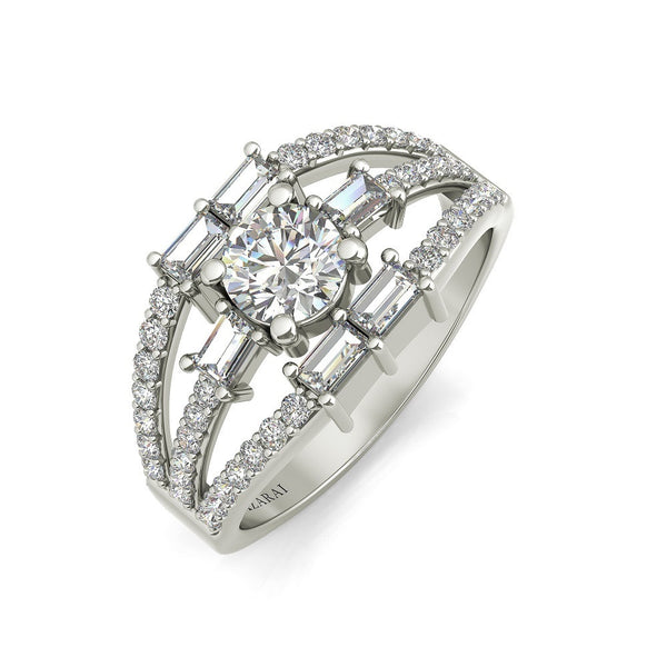 Vivienne sterling silver engagement ring