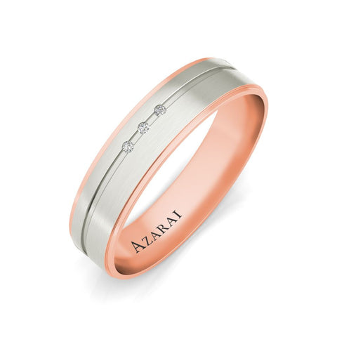 Ambre 9kt gold wedding band - Azarai Jewelry |  Abuja | Lagos | Nigeria