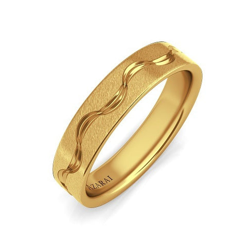 Hudson 18kt gold wedding band