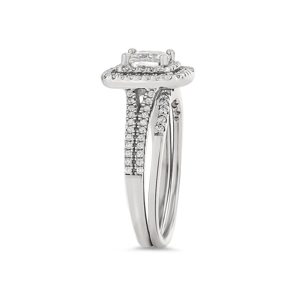 Alexandra sterling silver bridal set - Azarai Wedding Rings |  Abuja | Lagos | Nigeria