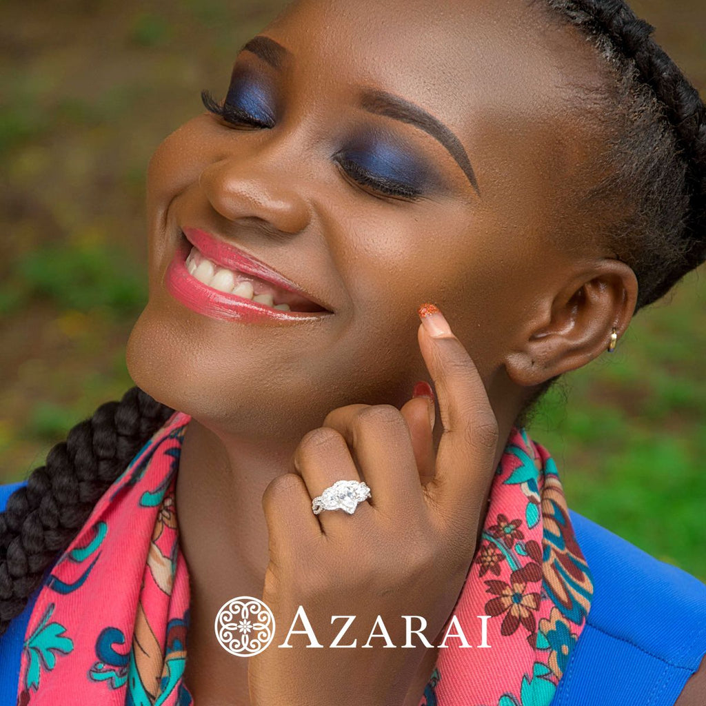 Alyssa sterling silver bridal set - Azarai Wedding Rings |  Abuja | Lagos | Nigeria