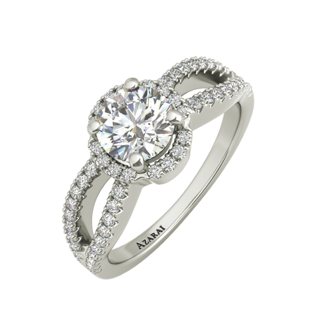 Angelika sterling silver engagement ring - Azarai Jewelry |  Abuja | Lagos | Nigeria