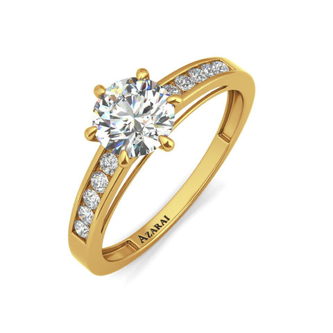 Anna 9kt gold engagement ring - Azarai Jewelry |  Abuja | Lagos | Nigeria