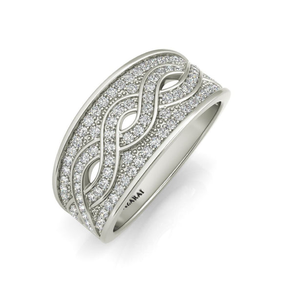 Arianna sterling silver wedding band