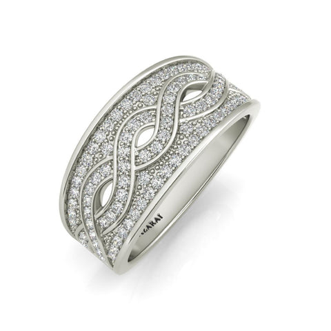 Arianna sterling silver wedding band - Azarai Jewelry |  Abuja | Lagos | Nigeria