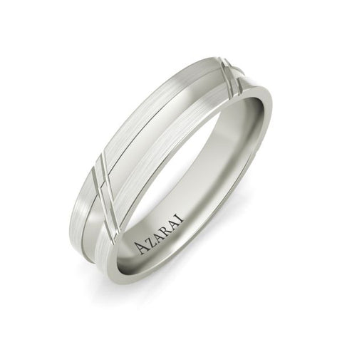 Arlington sterling silver wedding band - Azarai Jewelry |  Abuja | Lagos | Nigeria