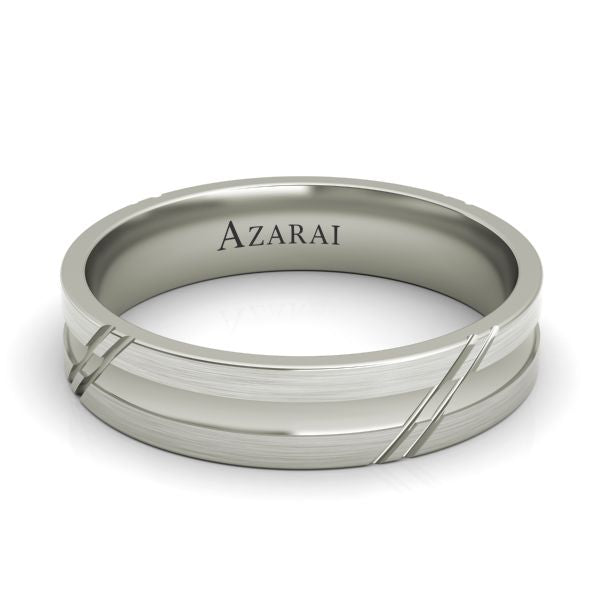 Arlington sterling silver wedding band - Azarai |  Abuja | Lagos | Nigeria