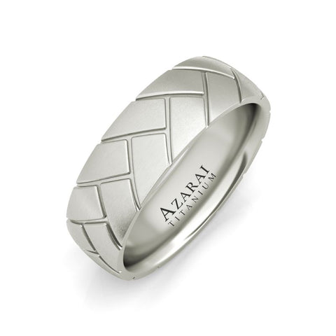 Ashby titanium wedding band - Azarai Jewelry |  Abuja | Lagos | Nigeria