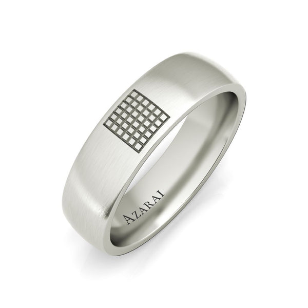 Aspen sterling silver wedding band - Azarai Jewelry |  Abuja | Lagos | Nigeria
