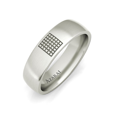 Aspen sterling silver wedding band