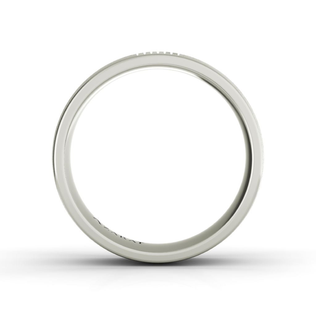 Aspen sterling silver wedding band - Azarai |  Abuja | Lagos | Nigeria
