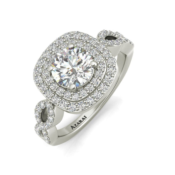 Astrid sterling silver engagement ring