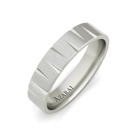 Atlantic sterling silver wedding band - Azarai Jewelry |  Abuja | Lagos | Nigeria