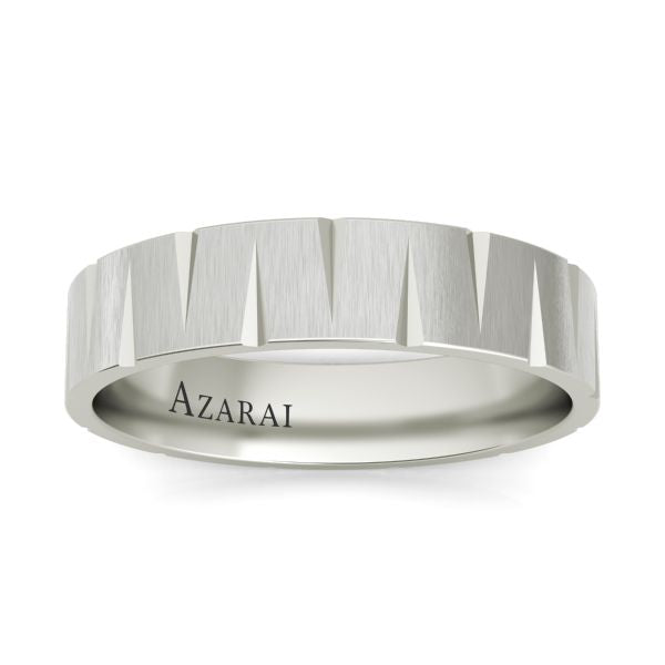 Atlantic sterling silver wedding band - Azarai |  Abuja | Lagos | Nigeria