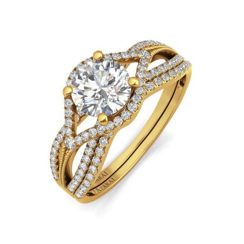 Azalea 9kt gold bridal set- Azarai Wedding Rings Lagos | Abuja Nigeria