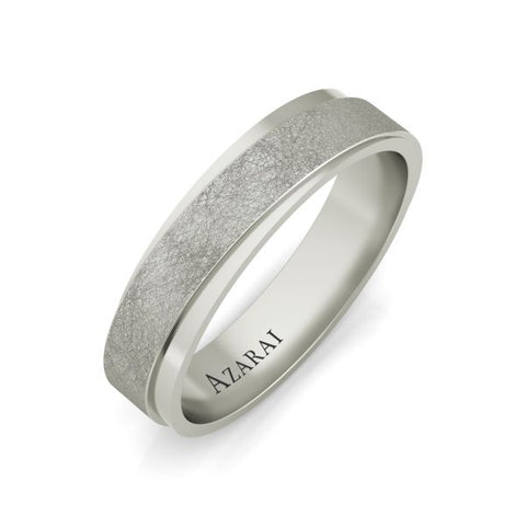 Azur sterling silver wedding band - Azarai Jewelry |  Abuja | Lagos | Nigeria