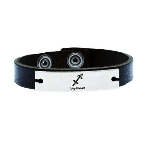 Elemento leather men's bracelet with zodiac symbols - Azarai |  Abuja | Lagos | Nigeria