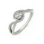 Ivy sterling silver engagement ring