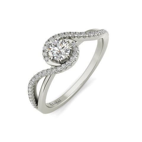 Ivy sterling silver engagement ring - Azarai Jewelry |  Abuja | Lagos | Nigeria