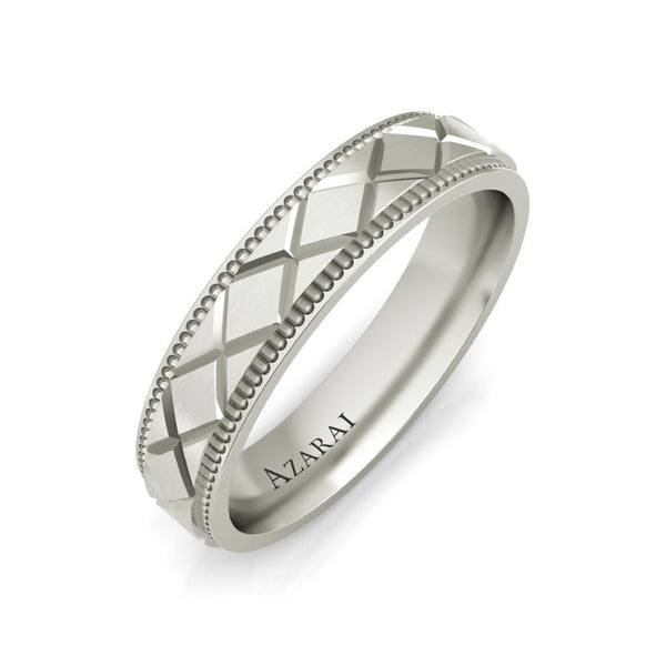 Baxter sterling silver wedding band