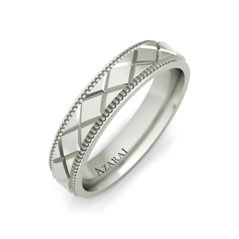 Baxter sterling silver wedding band - Azarai Rings |  Abuja | Lagos | Nigeria