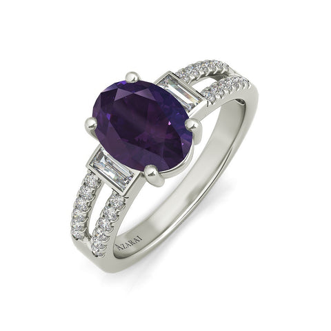 Amelie sterling silver engagement ring - EJ Cole - Azarai Jewelry |  Abuja | Lagos | Nigeria