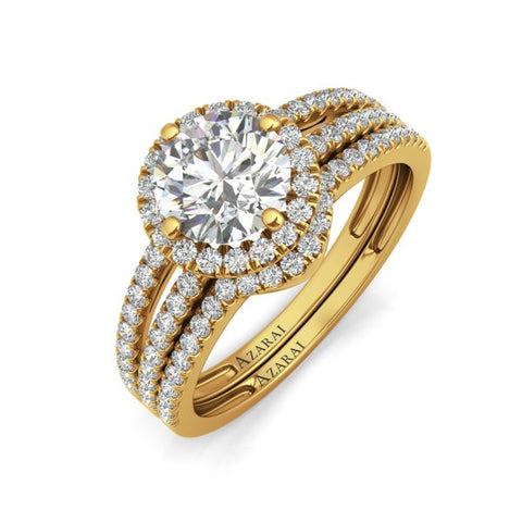 Bella 9kt gold bridal set- Azarai Wedding Rings Lagos | Abuja Nigeria