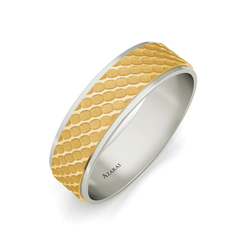 Berkeley 18kt gold wedding band - Azarai Rings |  Abuja | Lagos | Nigeria