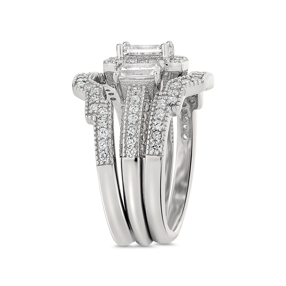 Brooklyn sterling silver bridal set - Azarai Wedding Rings |  Abuja | Lagos | Nigeria