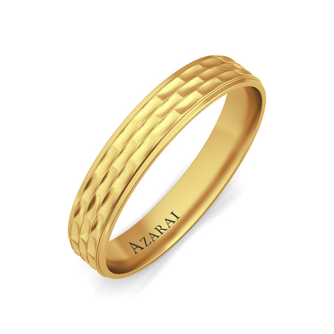 Brunswick 9kt gold wedding band - Azarai Rings |  Abuja | Lagos | Nigeria