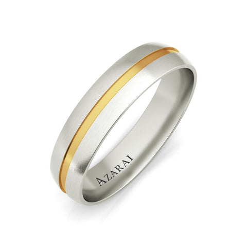 Burke 18kt gold wedding band