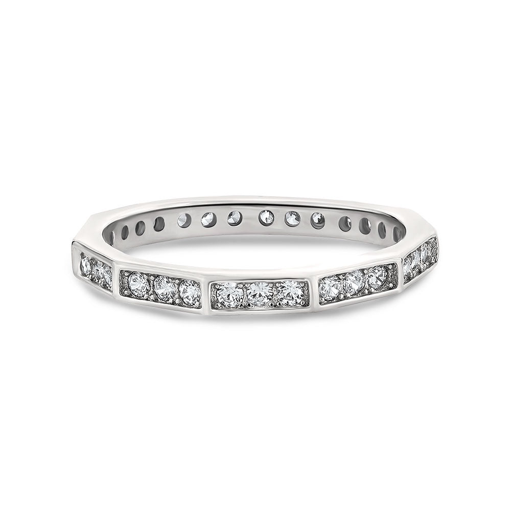 Lacey sterling silver wedding band - Azarai |  Abuja | Lagos | Nigeria
