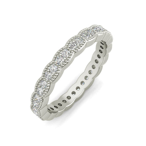 Carlotta sterling silver wedding band
